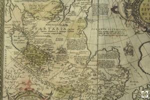 Абрахам Ортелий. Карта Тартарии или Царства Великого Хана. 1581 год.